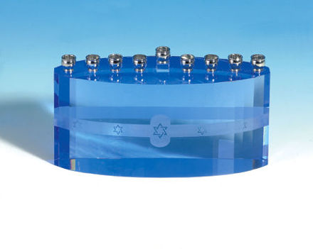 Picture of #156 Crystal Menorah Blue Ice