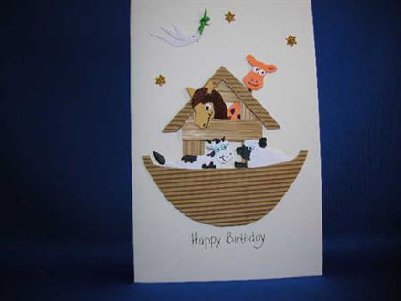 Picture of #741 Noah's Ark Birthday Card