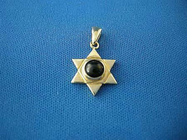 Picture of #G1015 Onyx Star of David