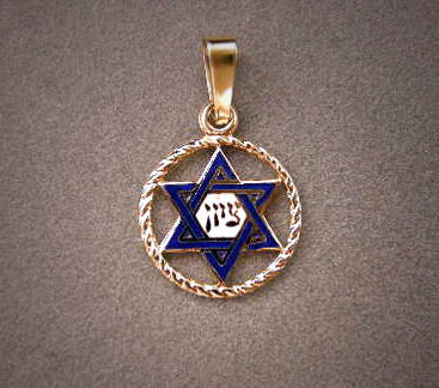 Picture of #G143 Rope Circle Enameled Star
