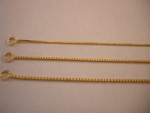 Picture of #GLBOX 14K Yellow Gold Light Box Chain