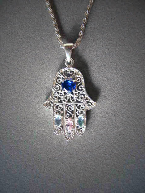 Picture of #S430 Bejeweled Filigree Hamsa