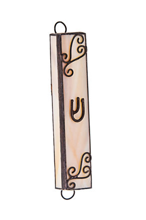 Picture of #125 Stained Glass White and Tan