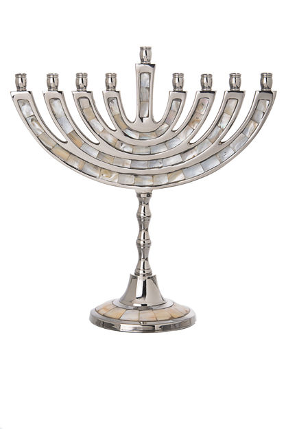 Picture of #11535 Mother of Pearl Menorah