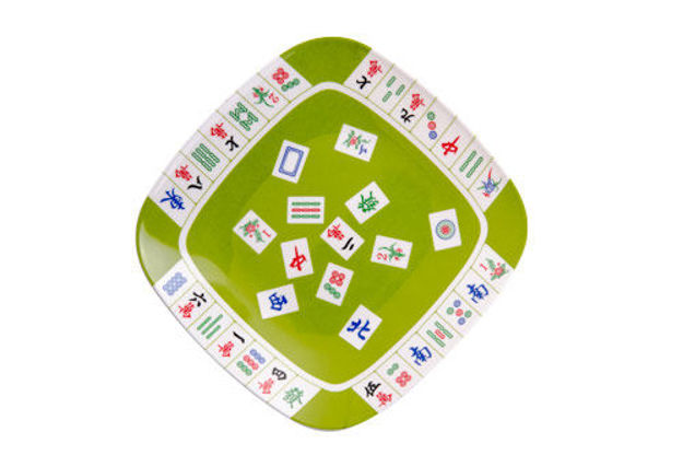 Picture of Mah Jongg -Luncheon Plate