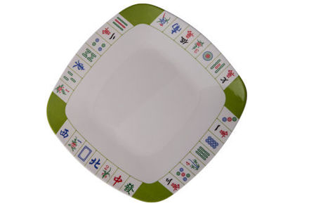Picture of #413D Mah Jongg Dinner-  Plate