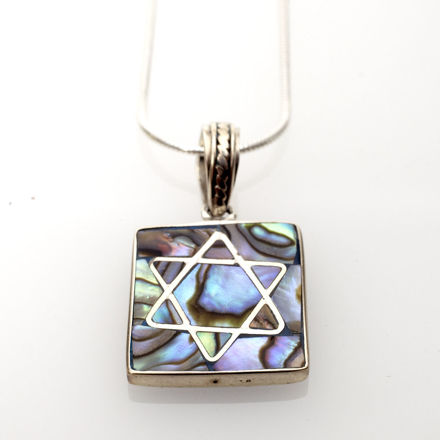 Picture of #B525-A Abalone and Sterling Silver Star
