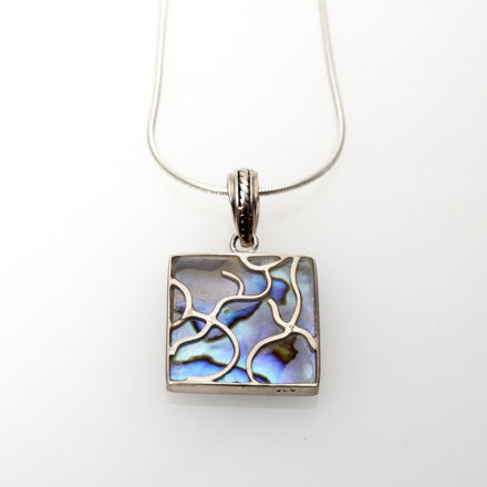 Picture of #B539-A Abalone and Sterling Silver Tree of Life