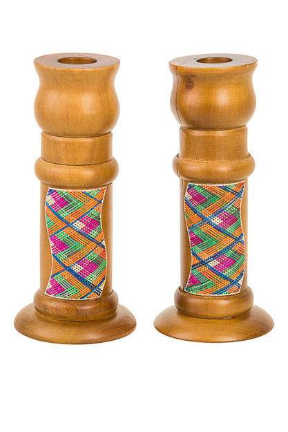 Picture of Reed Sea Shabbat Candlesticks Light