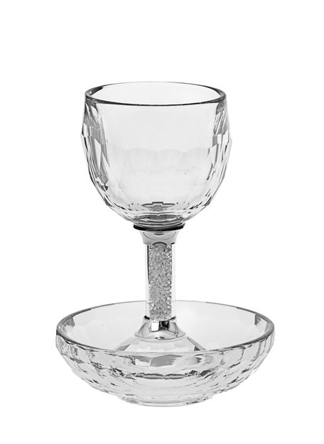 Picture of #1137 Kiddush Cup Crystal with tray