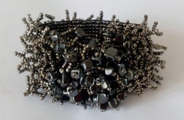 Picture of #B602-07Gemstone and Glass Bead Bracelet
