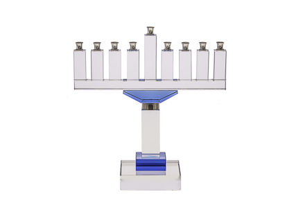 Picture of #155-B Crystal Menorah with blue