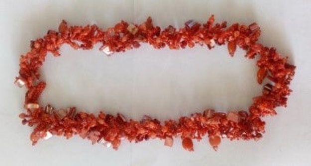 Picture of #B603-03 Gemstone Glass Bead Necklace