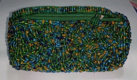 Picture of #B604-02 Cylinder Beaded purse small