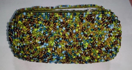Picture of #B604-04 Cylinder Beaded purse small
