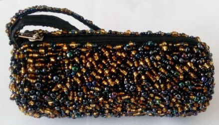 Picture of #B604-08 Cylinder Beaded purse small