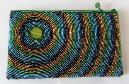 Picture of #B605-09 Beaded Purse Large