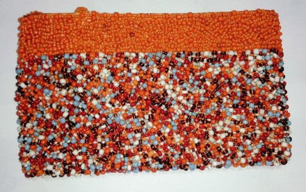 Picture of #B605-11 Beaded Purse Large