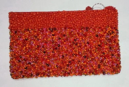 Picture of #B605-12 Beaded Purse Large