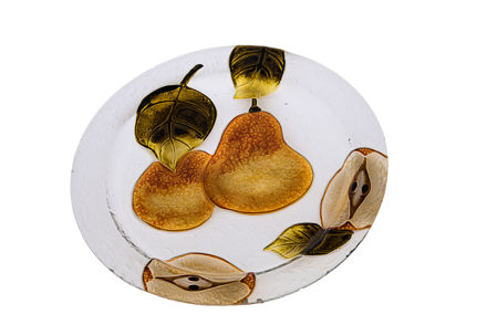 Picture of #828-B Glass Plate Round Pears