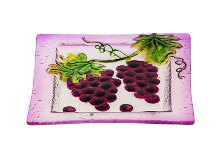Picture of #829-C Glass Plate Square Grape