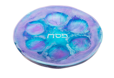 Picture of C833-S Resin Blueberry Ocean Seder Plate