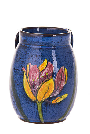 Picture of #7067-B Stoneware Hydragana Blue Wash Cup