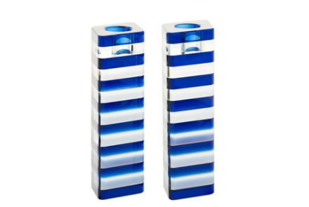 Picture of Blue Stripes Candle stick