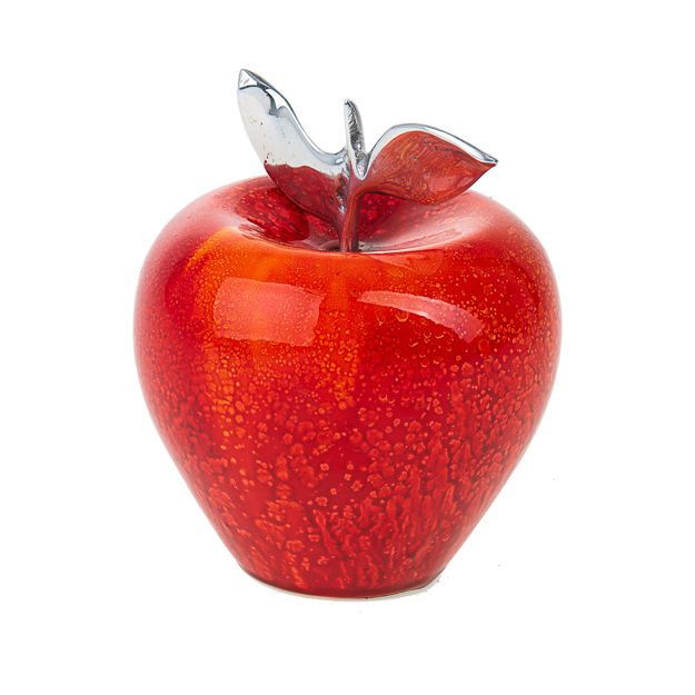 Picture of #462 Apple Decorative Red/Orange glazed