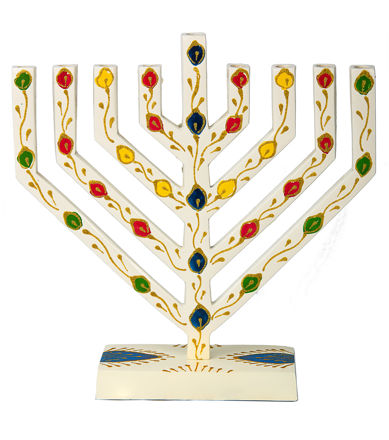 Picture of #254- V shaped colored menorah