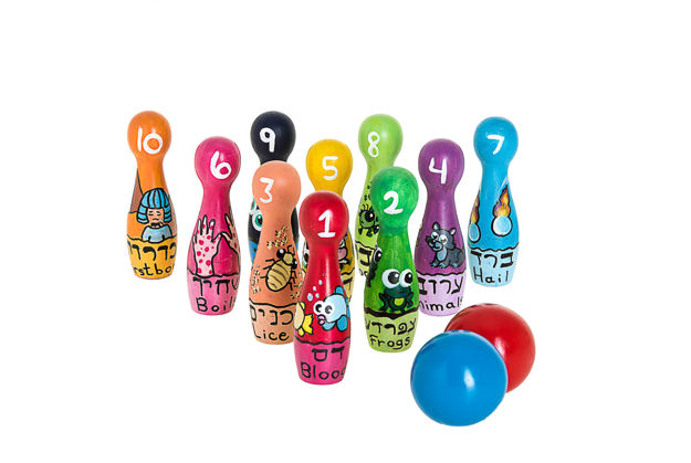 Picture of #196-B Passover Plauges Bowling pin set