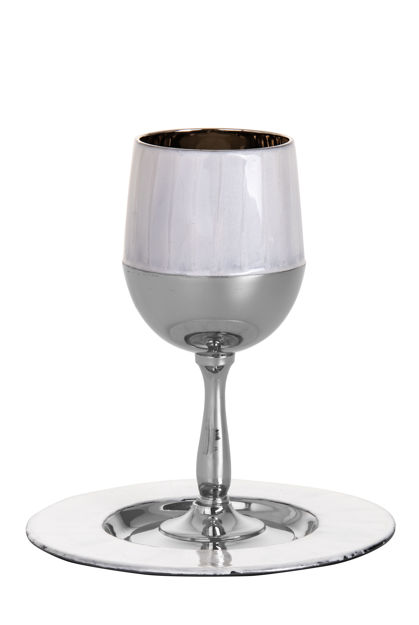 Picture of #823-W Kiddush Cup White