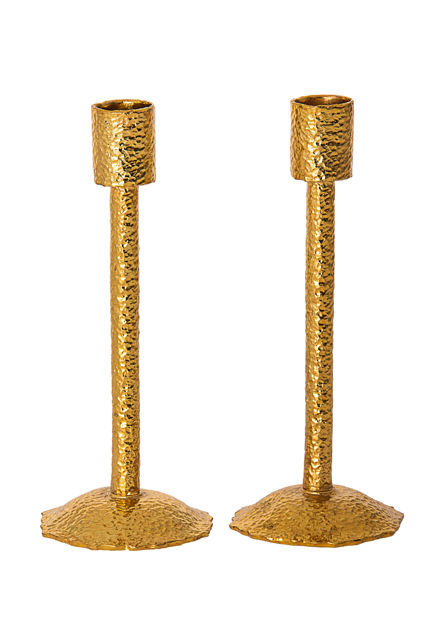 Picture of 108-G Hammered Gold Metal Candle Stick