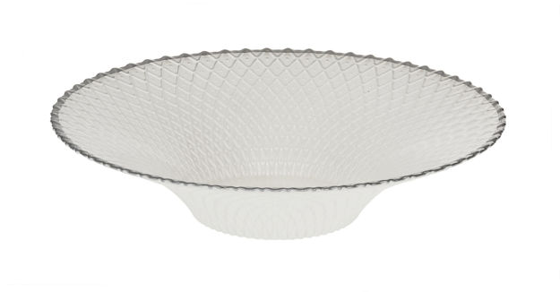 Picture of #1211-W Round Bowl White with Grey