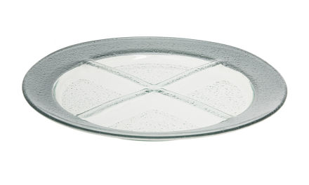 Picture of #1206-S Silver Round Tray with 4 sectionals