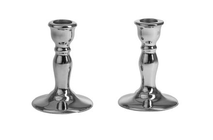 Picture of G101-S Candle stick Silver metal