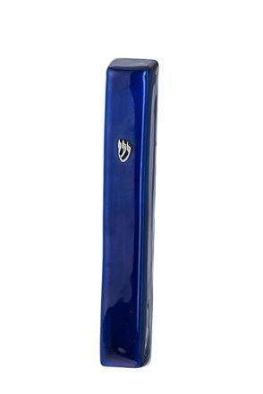 Picture of #4850-BL Mezuzah Blue  Large Enamel