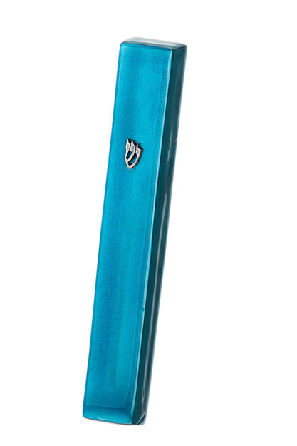 Picture of #4850-T Mezuzah Turquoise Large Enamel