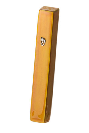 Picture of #4850-G Mezuzah Gold Large Enamel