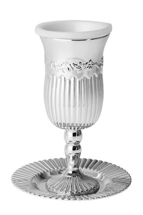 Picture of #819 Cup on base Silver plated Line design