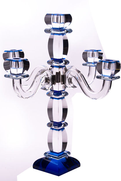 Picture of #16191-B Candelabra Blue Crystal  5 Branches