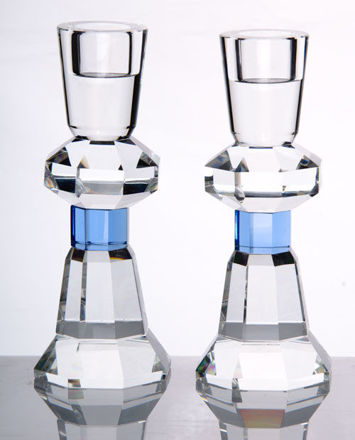 Picture of Candle Stick Crystal with blue accent