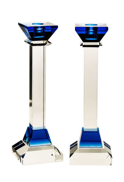 Picture of Crystal Candle Stick Blue