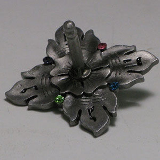 Picture of #7023 Jeweled Dreidel  with Pewter Finish and stones