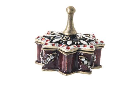 Picture of #7027 Dreidel Burgundy Jeweled Enamel