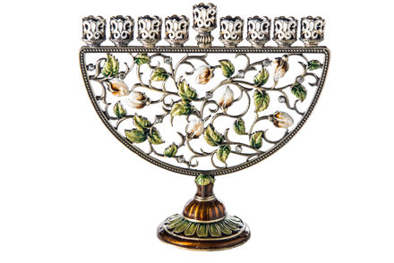 Picture of #6082 Jeweled Menorah Multicolor