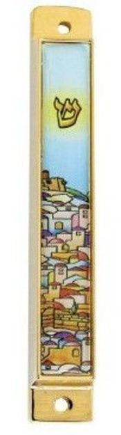 Picture of #4868 Mezuzah Enamel Jerusalem City
