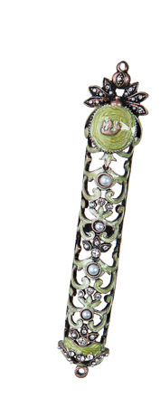 Picture of #146 Jeweled Mezuzah Lime