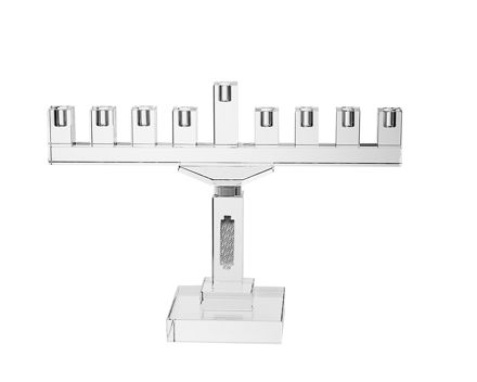 Picture of #16378-S Menorah Crystal with Silver