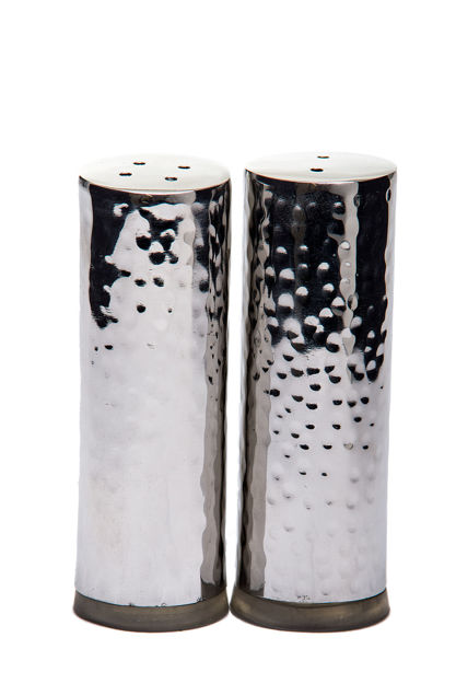 Picture of #11754 Salt & Pepper Stainless Steel Hammered